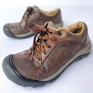 Keen Womens Shoes Leather Hiking Outdoors Sneakers